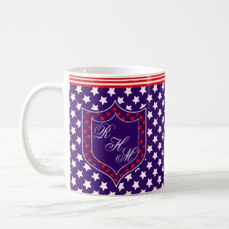 Monogram Stars and Stripes Coffee Mug