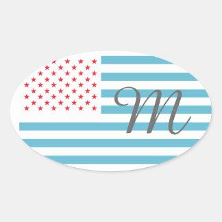 Monogram Stars and Stripes Stickers