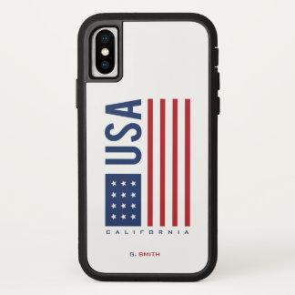 Monogram. Stars & Spangled Banner US American Flag iPhone X Case