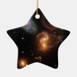 Monogram Stephans Quintet deep space star galaxies Ceramic Ornament