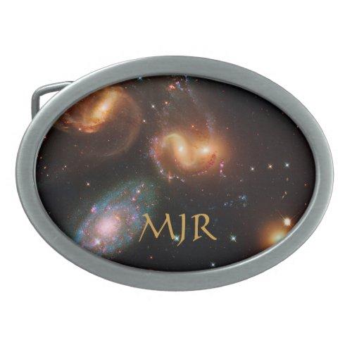 Monogram Stephans Quintet deep space star galaxies Oval Belt Buckle