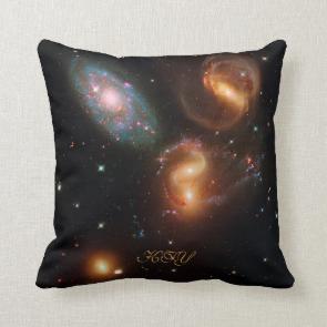 Monogram Stephans Quintet deep space star galaxies Pillows