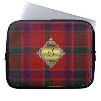 Monogram Stewart Tartan Plaid Laptop Cover Laptop Sleeves