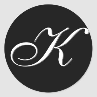 "Monogram Sticker - ""K"" Customizable"