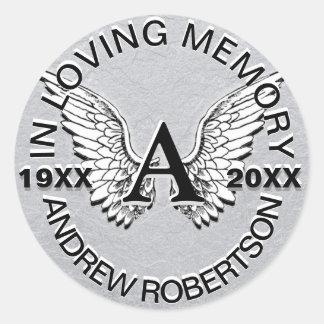 Monogram Sticker Silver