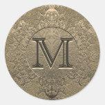 Monogram Sticker | Vintage Gold