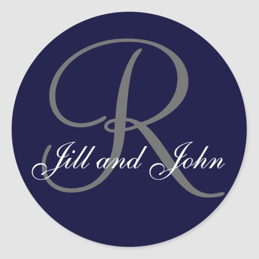 Monogram Stickers for Wedding Favours and Invites