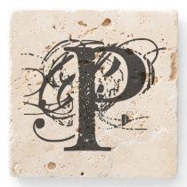 Monogram Stone Coaster