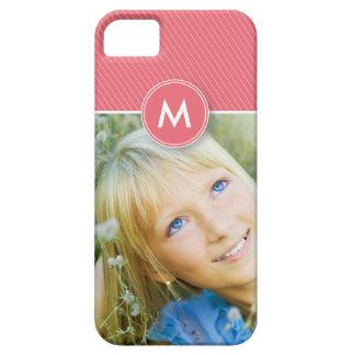 Monogram Stripe Photo Case-Mate Case (rose pink) iPhone 5 Case