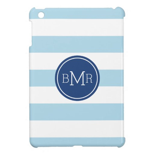 MONOGRAM STRIPES custom iPad case Case For The iPad Mini