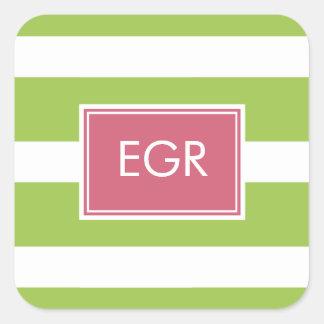 Monogram Stripes Labels / Sticker