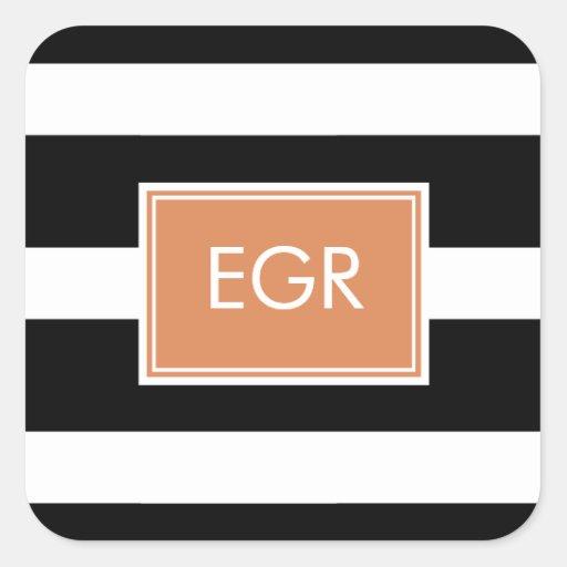 Monogram Stripes Labels / Sticker Sticker