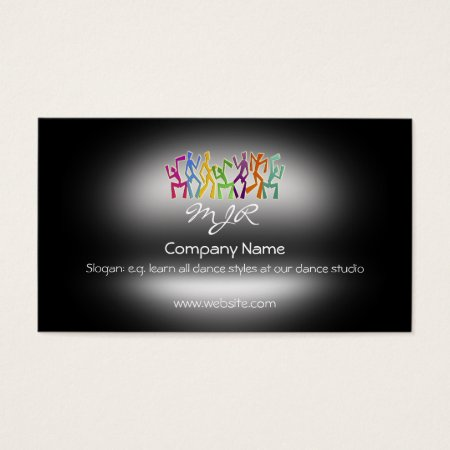 Monogram, Studio Dancers, metallic-effect Business Card