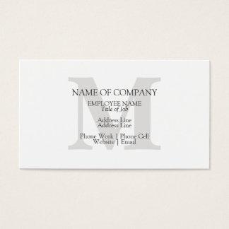 Monogram Stylish Classic Elegant Monogrammed Business Card