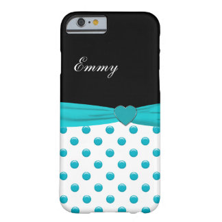 Monogram Stylish Polka Dot And Bow Barely There iPhone 6 Case