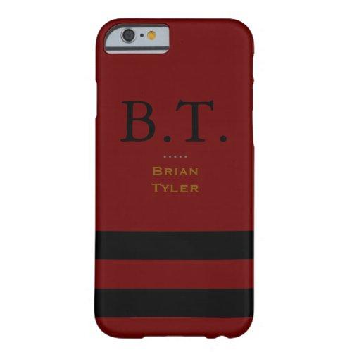 monogram stylish red/black new Phone Case