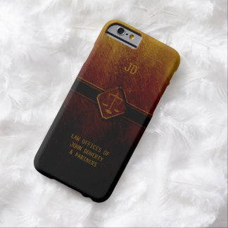Monogram   Stylish Scales of Justice Barely There iPhone 6 Case