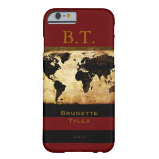 monogram stylish world-map new barely there iPhone 6 case
