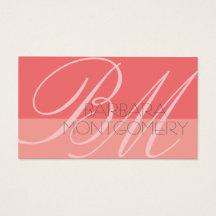 Monogram Stylist Fashion Designer Business Card