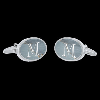 Monogram Surf / Beach Photo Cufflinks