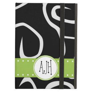 Monogram - Swirled Pattern, Swirly Style - Black Case For iPad Air