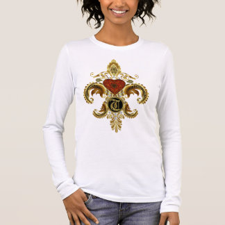 Monogram T  Best Viewed Large Please View Notes Long Sleeve T-Shirt