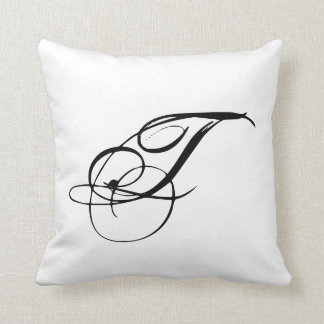Monogram T Pillow