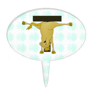 Monogram T Pony Horse Personalised Cake Topper