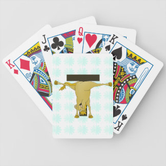 Monogram T Pony Horse Personalised Bicycle Playing Cards