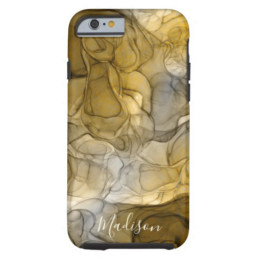 Monogram tan grey marbling dreams tough iPhone 6 case