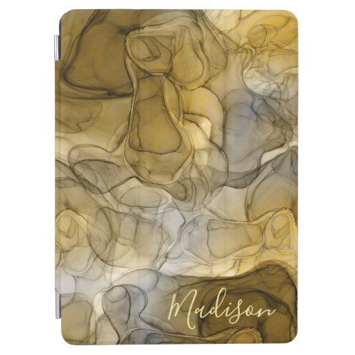 Monogram tan grey marbling dreams iPad air cover
