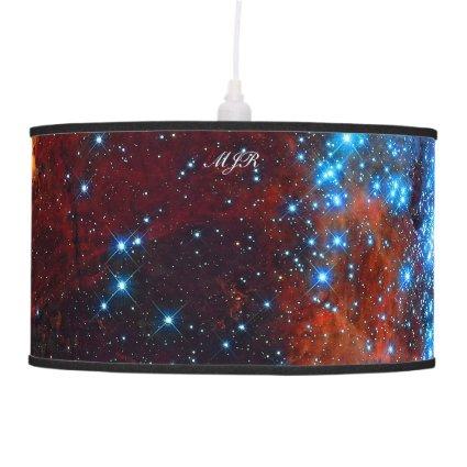 Monogram Tarantula Nebula, outer space image Ceiling Lamps