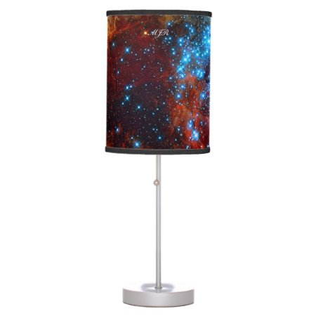 Monogram Tarantula Nebula, outer space image Table Lamp