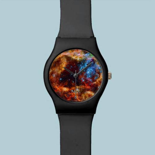 Monogram, Tarantula Nebula, outer space image Wristwatches