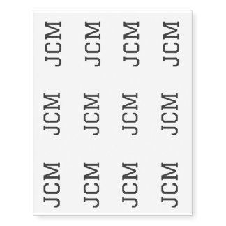MONOGRAM TATTOO TEMPORARY TATTOOS
