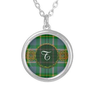 Monogram Taylor Tartan Round Pendant Necklace