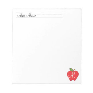 Monogram Teachers   |  Notepads
