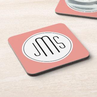 monogram template drink coaster