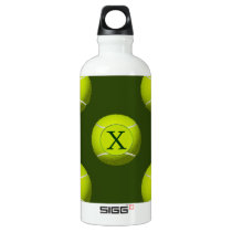 Monogram Tennis Balls Sports pattern, Aluminum Water Bottle