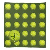 Monogram Tennis Balls Sports pattern, Bandana