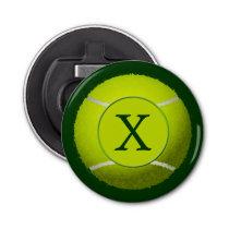 Monogram Tennis Balls Sports pattern Bottle Opener