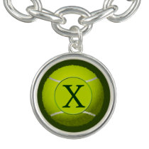 Monogram Tennis Balls Sports pattern, Charm Bracelet