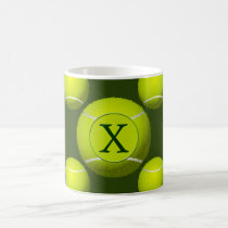 Monogram Tennis Balls Sports pattern, Coffee Mug