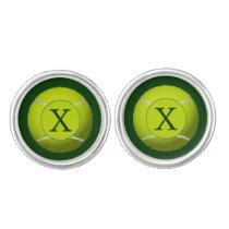 Monogram Tennis Balls Sports pattern Cufflinks