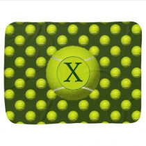 Monogram Tennis Balls Sports pattern, Receiving Blanket