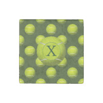 Monogram Tennis Balls Sports pattern, Stone Magnet