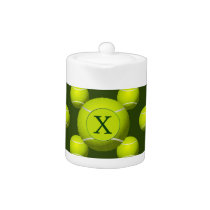 Monogram Tennis Balls Sports pattern, Teapot