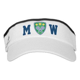 Monogram tennis sun visor cap for player and coach