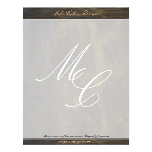 Monogram Texture Letterhead