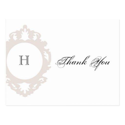 Monogram Thank You Post Card